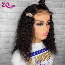 Kinky Curly Lace Closure Human Hair Wigs 8-30 Inches 150 180 Density Brazilian Pre Plucked Remy Lace Wigs Human Hair For Women