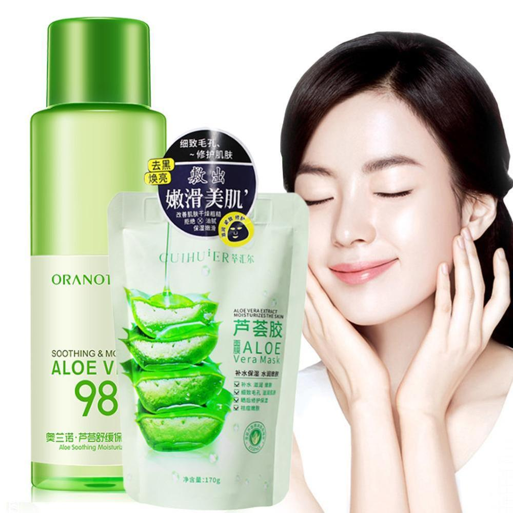 Aloe Face Tonic Hydration Facial Toner Skin Care Products Pore Minimizer Oil Control Makeup Water Face Toner Skin Care image