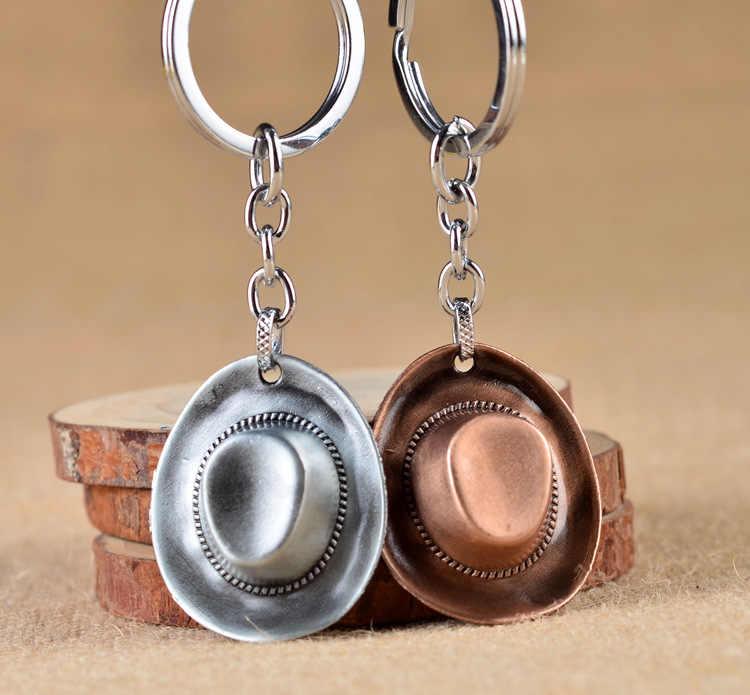 คู่น่ารัก Key CHAIN คาวบอยบุคลิกภาพทองเหลือง Decor ผู้หญิงพวงกุญแจกระเป๋าจี้ Charm พวงกุญแจ Creative คนรักที่ดีที่สุดของขวัญเครื่องประดับ