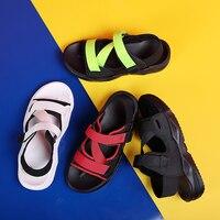 BIGFIRSE Printemps été Nouveaux hommes décontracté Plage Chaussures Velcro Sandale Mode Confortable Pantoufles En Caoutchouc Portable Zapatillas Hombre