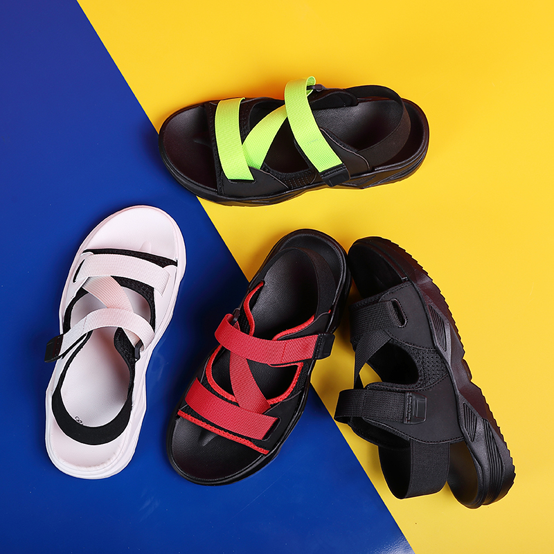 BIGFIRSE Spring Summer New Men's Casual Beach Shoes Velcro Sandal Fashion Comfortable Slippers Portable Rubber Zapatillas Hombre