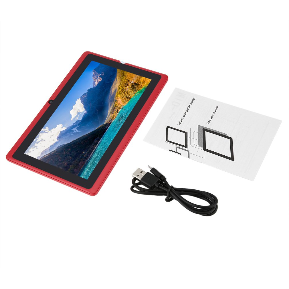 Ainol 7 Inch Children Tablets PC  512MB+4GB A33 Quad Core Dual Camera 1024*600 Android 4.4 Tablet PC With Silicone Cover