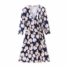 COZARII summer dress women vestidos casual style sashes print V-Neck mini de fiesta party tops plus size