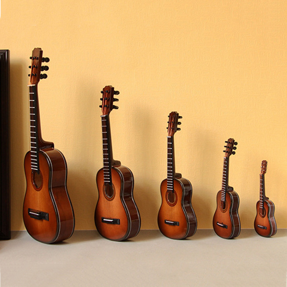 1//4 Mini Electric Guitar Model House Accessories Mini Musical Instruments 25cm