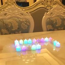 Kreatywna świeca LED lampa wielokolorowa sztuczny kolorowy lampka pochodnia strona główna ślub dekoracja urodzinowa festiwal świeczniki tanie tanio CN (pochodzenie) Herbata światło Kubek w kształcie Świecznik świeca puchar Bezpłomieniowe Other Electronic Candle