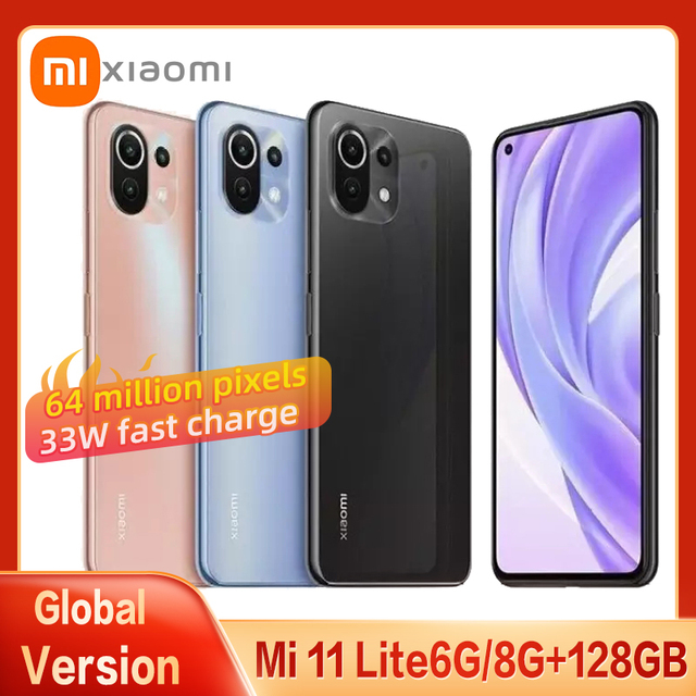 Global Version Xiaomi Mi 11 Lite Smartphone Snapdragon 732 Eight Core AMOLED Full Screen 64MP Pixel 33W With NFC Mobile Phone 1