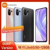 Globale Version Xiaomi Mi 11 Lite Smartphone Snapdragon 732 Acht Core AMOLED Voll Bildschirm 64MP Pixel 33W Mit NFC handy