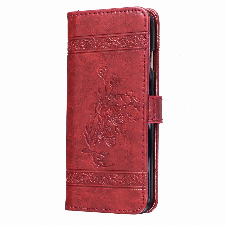 Luxury Wallet Flip Case For Apple iPhone 11 Pro Max SE 2020 X XR XS MAX 8 7 6 6S Plus 5 5S Fundas Leather Stand Cover Capa D04E