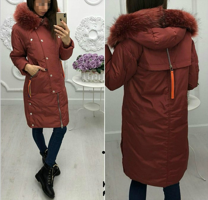 2019 autumn and Winter women cotton clothing  hooded long-sleeved long paragraph zipper warm