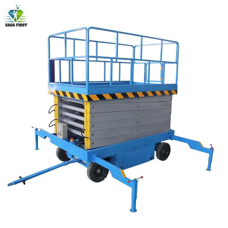 300-2000kg Heavy Duty 4 Wheels Mobile Scissor Lifter Scissor Lift