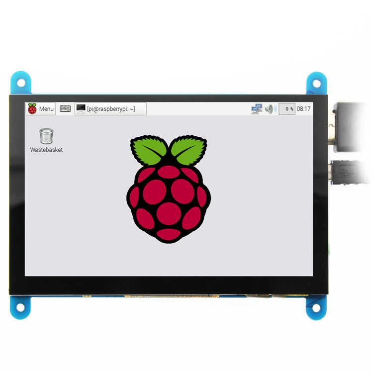 EQV 5 بوصة المحمولة رصد HDMI 800x480 بالسعة شاشة عرض LCD تعمل باللمس لتوت العليق Pi 4 3B +/PC/الموز Pi
