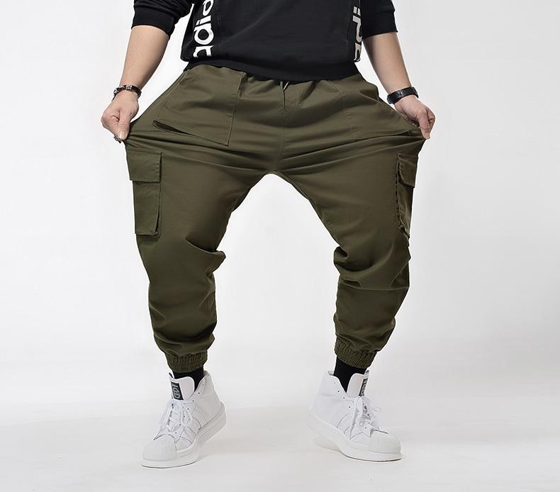 Plus  7XL 6XL Hip Hip Streetwear Men's Camouflage Joggers Pants 2020 Men Cargo Pant Trousers Elastic Waist Harem Pant Men