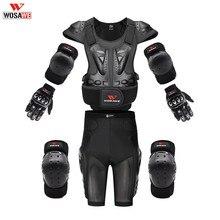 WOSAWE Áo Khoác Toàn Thân Bảo Vệ Đua Vỏ Giáp Bảo Vệ Motocross Ngực Cột Sống Bảo Vệ Bảo Vệ Đầu Gối Tay