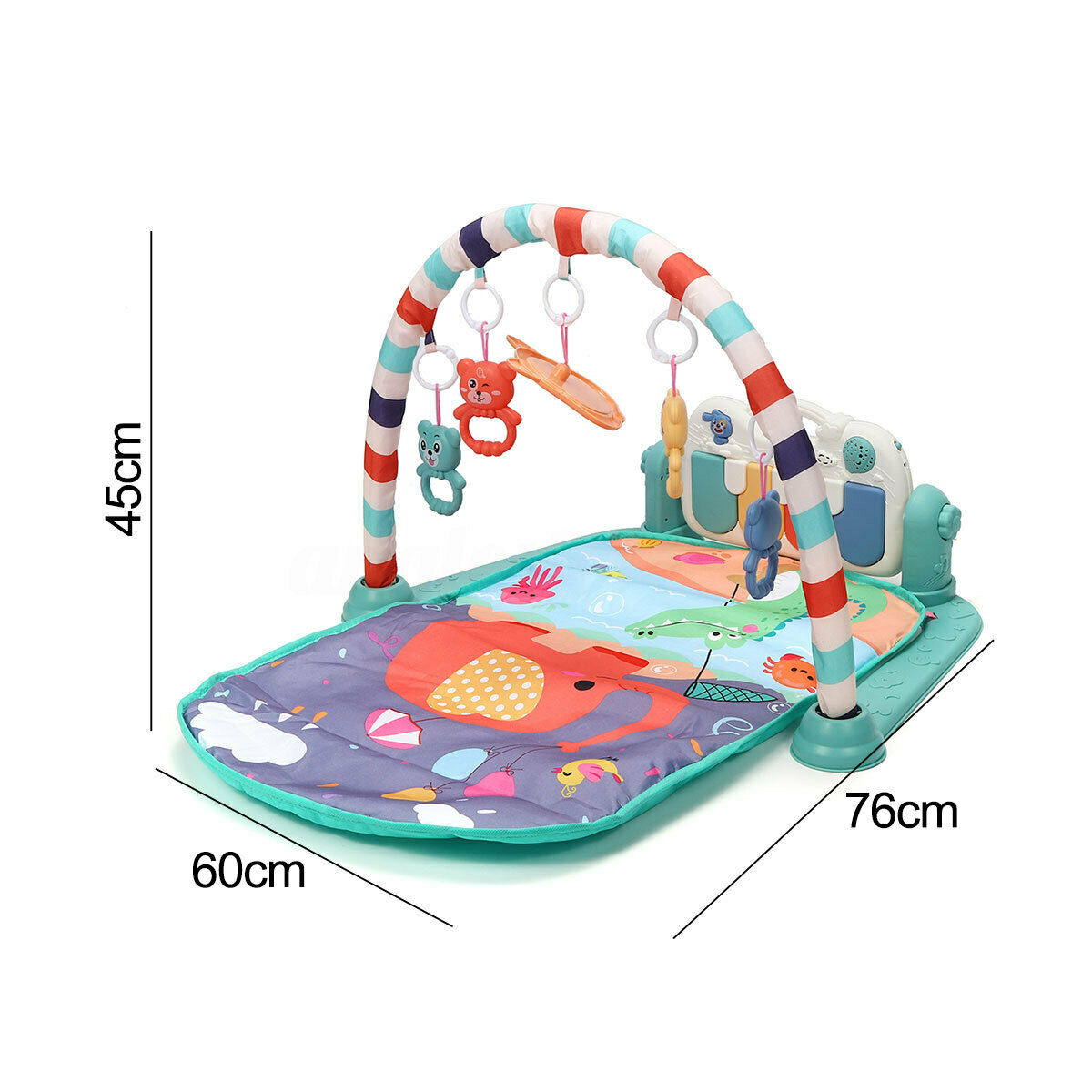 Baby Activity Gym Children's Play Mat 0-12 Months Developing Carpet Soft Rattles Musical Toys Activity Rug For Babies Games | Happy Baby Mama