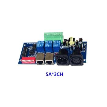 DMX-RELAY-3 channel*5A 1pcs AC110v-220V 3CH RJ45 DMX512 3P Relay Switch  RGB led controller Decoder for led strips 12ch relay switch dmx512 controller rj45 xlr relay output dmx512 relay control 12 way relay switch max 10a for led