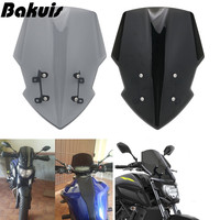 Windshield Wind Deflector for Yamaha MT07 2018 2019 FZ07 Windscreen With Bracket Motorcycle Accessories Motorcycle decoration