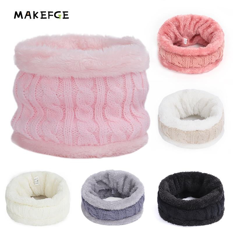 2019 New Boys Girls Baby Winter Neck Round Scarf Outdoor Warm Children Scarf Geometry Children Knitting Scarves Out Accessories
