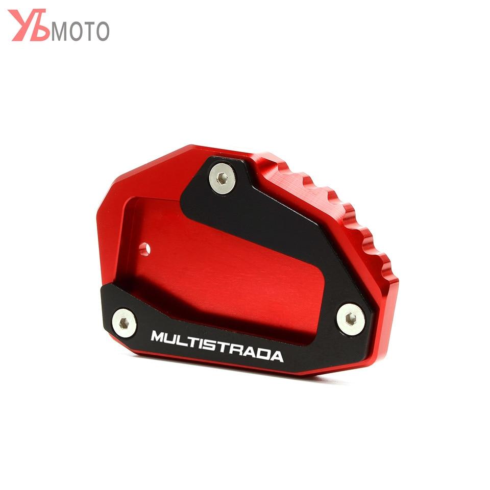 Новая подставка для ног подножка сбоку расширение Pad Поддержка пластина для поездок на мотоцикле DUCATI Multistrada 950 1100 1200 1200S 1200GT 1260 аксессуары
