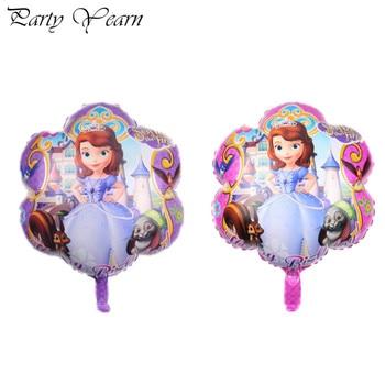 2 uds 45x45cm nuevo Sofía de dibujos animados princesa niña Globos para cumpleaños decoraciones para baby shower de helio globo juguete de niños Globos