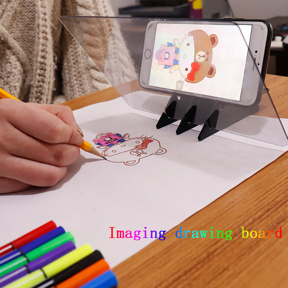 New Imaging Drawing Board Sketch Reflection Dimming Bracket Painting Mirror Plate Tracing Copy Table Projection Board Plotter