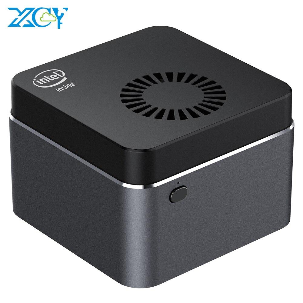 Xcy quad-core mini pc intel celeron n4100 8gb lpddr4 128gb ssd 2.4g/5.0g wifi bluetooth 4.2 hdmi2.0 4k 60hz USB-C windows 10