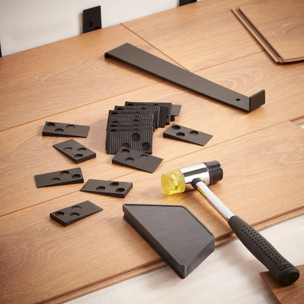 Wood Flooring Installation Kit With Mallet Spacers Pull Bar Tapping Block Laminate Wood Floor Installation Tool