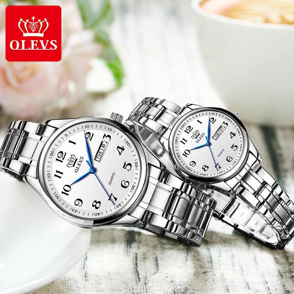 OLEVSควอตซ์นาฬิกาผู้หญิงแฟชั่นสุภาพสตรีนาฬิกานาฬิกาข้อมือสแตนเลสสตีลกันน้ำนาฬิกาข้อมือผู้หญิงMontre Femme 5567