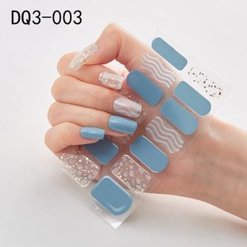 14pcs/sheet Glitter Gradient Color Nail Stickers Nail Wraps Full Cover Nail Polish Sticker DIY Self-Adhesive Nail Art Decoration 58