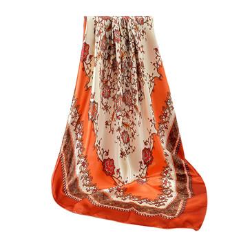 Nowe kwiaty damskie jedwabne szale nowe abstrakcyjne malowane kwiatowy wzór szale szale dla kobiet Rose Square Bandana tanie i dobre opinie ISHOWTIENDA WOMEN Dla dorosłych Poliester CN (pochodzenie) Scarf Drukuj Moda 60 cm scarf for women hijab scarf women