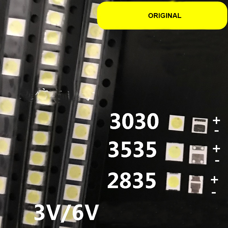 100pc/lot NEW <font><b>SMD</b></font> <font><b>LED</b></font> 3030/3535/2835 3V 6V Cold White <font><b>1W</b></font> For TV/LCD Backlight <font><b>led</b></font> <font><b>diode</b></font> image