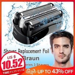 Reemplazo de Shaver de la cabeza para Braun 32B 32S 21B para Cruzer6 Serie 3 301S 310S 320S 360S 3000S 3010S 3020S 350CC cuchilla cabeza de