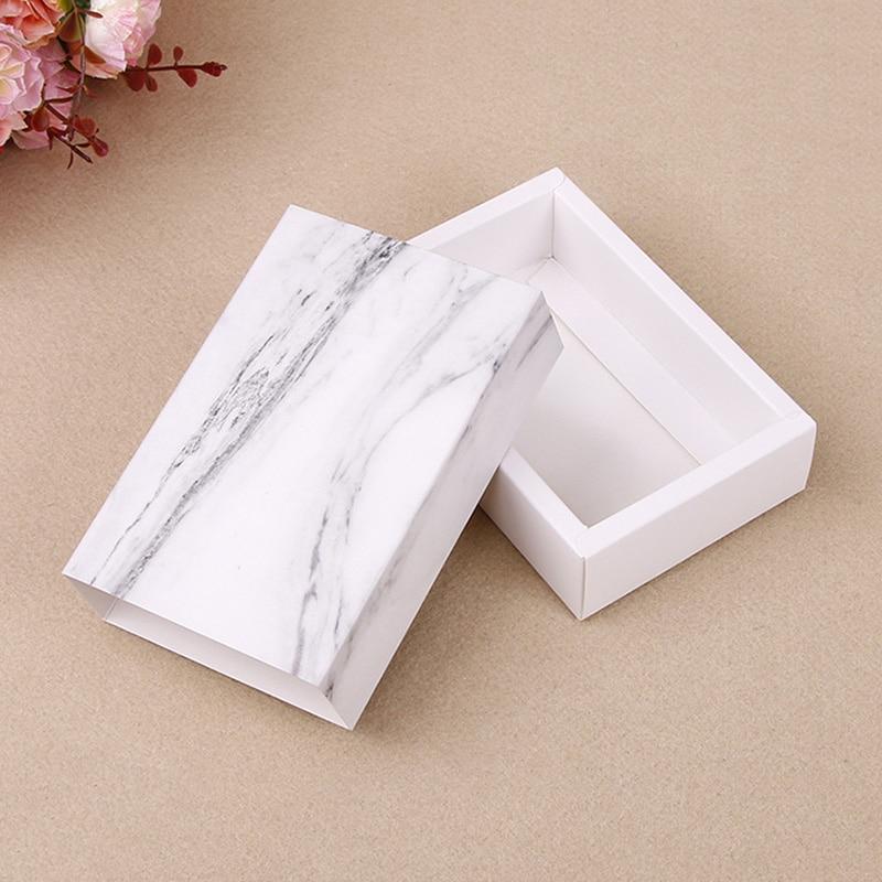 10pcs / Universal Marble Gift Box, Drawer Type Jewelry Packaging, Gift Box, Storage Paper Box