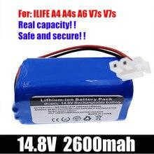 ILIFE – batterie Lithium 14.8V 2600mah 3200Mah, pour aspirateur Robot ILife A4 A4s V7 A6 V7s Plus, capacité complète 1P