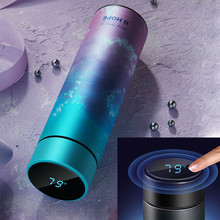 450ml Smart Temperature Display Stainless Steel Thermos Vacuum Flask Mug Coffee Travel Sport Portable Water Bottle Thermos Cup cheap XINCHEN CN(Origin) Vacuum Flasks Thermoses Eco-Friendly Stocked Large capacity Business Lovers Straight Cup 12-24 hours