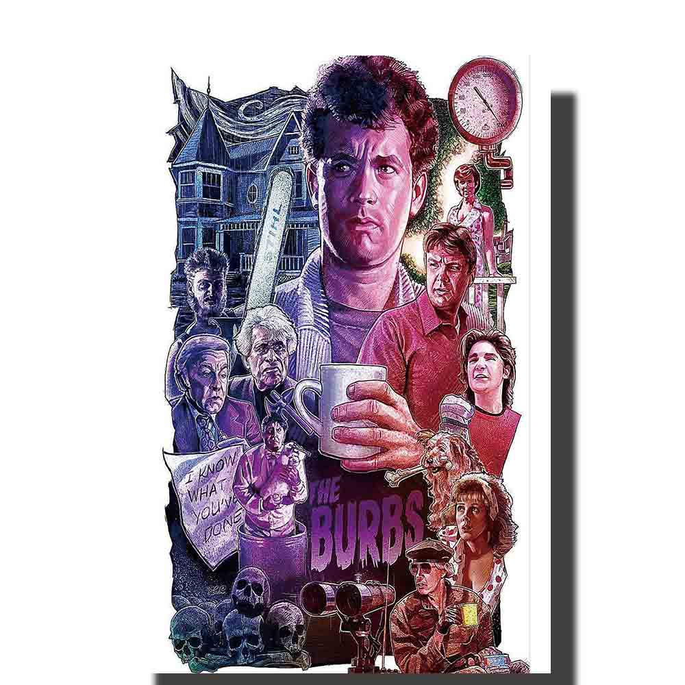 M493 The 'Burbs 1989 Tom Hanks Classic Movie New Gift poster print canvas Art Pictures decoration fabric 12x18 image