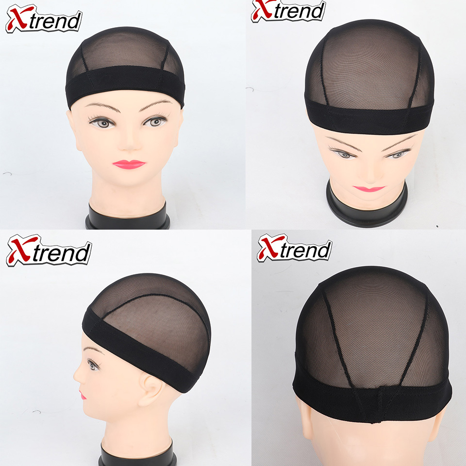 2020 Cheapest 1pcs black# Dome Cornrow Wig Caps Easier Sew In Hair Stretchable Weaving Cap Elastic Nylon MeshNet&hairnet