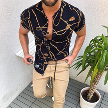 Nation Style Summer Man Shirt 2020 Mens Ethnic Printed Stand