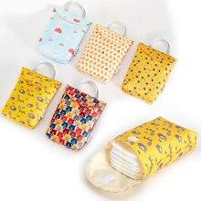 Многофункциональная, для детских подгузников держатель для салфеток Многоразовые водонепроницаемые модные принты Влажная/сухая сумка для хранения Мумия дорожная сумка для подгузников