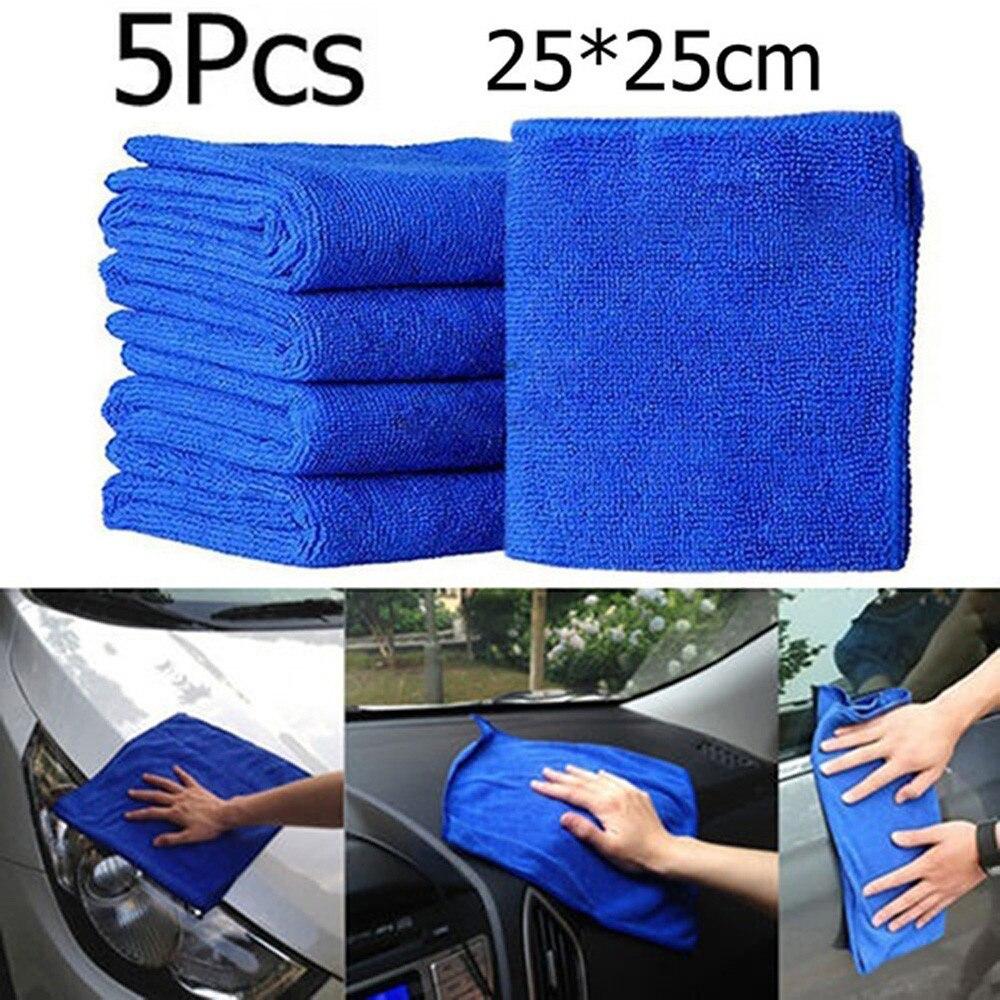 Uds.-paño de plumero para limpieza de toallas de Coche, Accesorios automáticos, herramientas de microfibra para lavado de toallas, cepillos de cuidado, envío directo