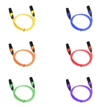 цена на Pvc Bare Copper Wire 3-pin Ofc Xlr Audio Cable Male To Female For Microphone Mixer 3 Feet 1m-5m Signal Line For Microphone