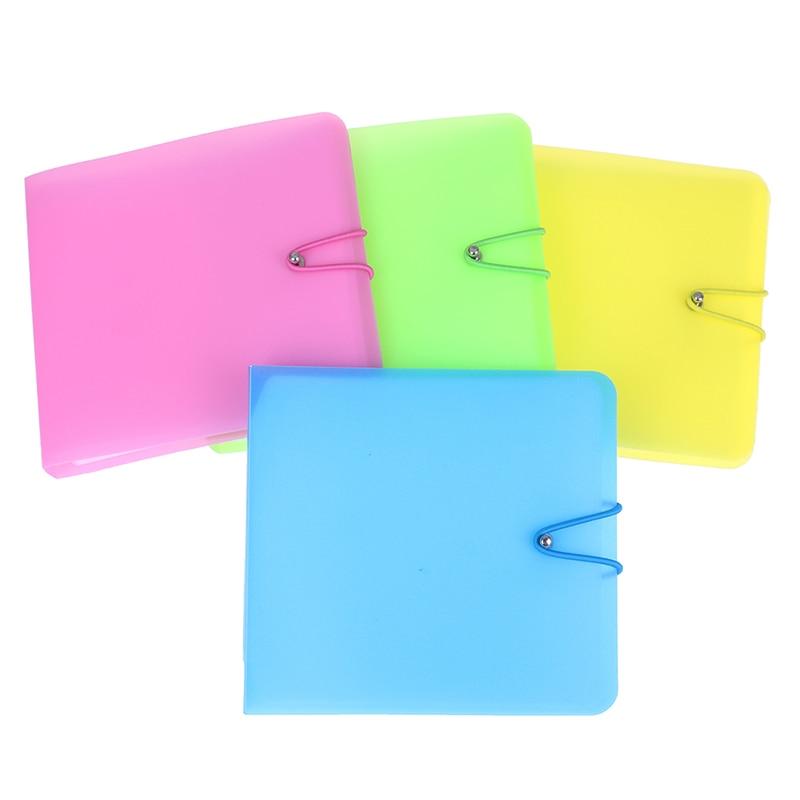 12 Disc Platics Album Box For CD VCD DVD Portable Wallet Storage Holder Bag Hard Case Boxes Holder Organizer Carry Case
