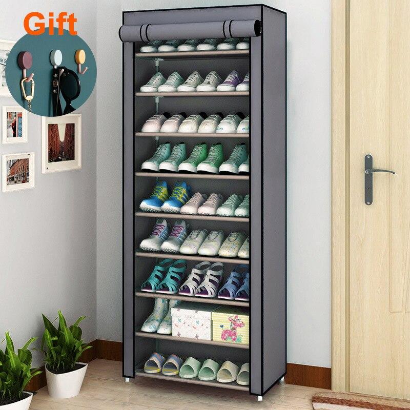Multi-Layerชั้นวางรองเท้าฝุ่นตู้เก็บรองเท้าหน้าแรกรองเท้าขาตั้งหอพักSimple Storageชั้นวางของผู้ถือ
