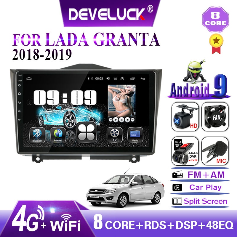 2 din Android Car Radio For LADA BA3 Granta Cross 2018 2019 GPS Navigation carplay IPS 2.5D screen Multimedia Video Player RDS image