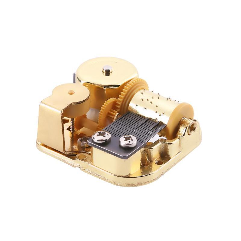 DIY Play Mechanical Metal Clockwork Music Box Movement Children Craft Toy