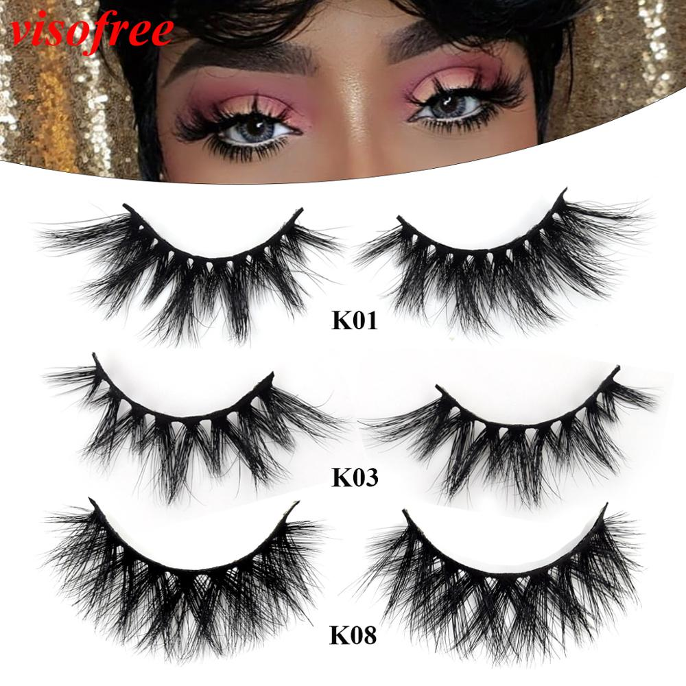 Visofree Eyelashes Mink Eyelashes Dramatic 3D Mink Lashes Reusable Thick False Eyelashes Makeup Extension Eyelash Fake Lashes