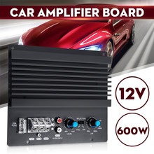 12v 600w amplificador de áudio mono, subwoofer poderoso, placa de amplificador para carro, módulo de amplificador automotivo 3d de cristal, potência