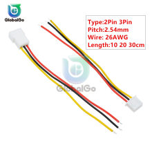 5 pares 10cm 20cm 30cm largo JST 2 pines 3Pin enchufe macho a hembra Cable conector 26AWG XH 2,54mm PCB Cable conector