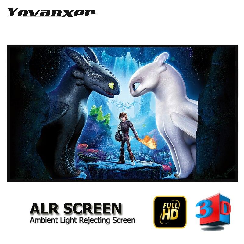 Lumière ambiante rejetant ALR écran de projecteur 80 -150 écrans de Projection Anti-lumière sans cadre