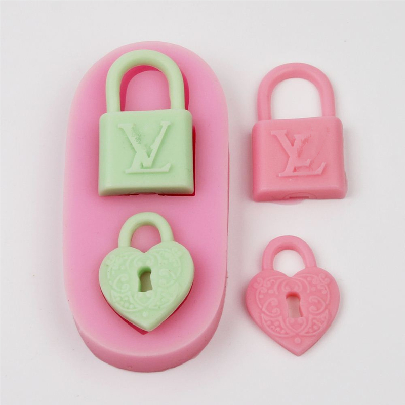 Mini Soap Mold 3D Cute Lock Silicone Mold Cake Decoration Mold Fondant Mold 100%Brand New High Quality FDA And SGS Certification
