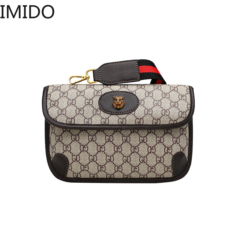 IMIDO The New One-Shoulder Women's Bag 2019 Popular Style The Same Printed Envelope Small Square Bag Luxury Handbags Designer